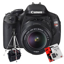 Canon Rebel T3i 600d Kit 18-55+ Trípode+ Sd 16gb C10+ Bolso!