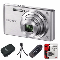 Sony W830 Reemp. W730 20.1mp Hd+ Lector+ 32gb+ Funda+ Trip!!
