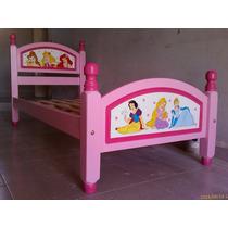 Cama Infantil Princesas Disney Cabezal Grande No Toxico