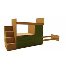 Dormitorio Infantil Juvenil Con Cajones Escritorio Placard