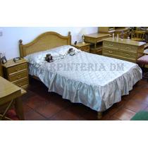 Cama 2 Plazas Curva Madera Roble 140x190cm / Carpinteriadm