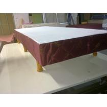 Cama--sommier--2 1/2 Plazas--150 X 190--tapizado--fabrica
