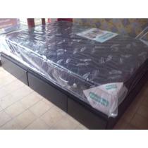 Cama Box Con 4 Cajones De 2 Plazas En Madera Maciza!!!