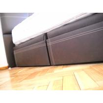 Box Cama Con 4 Cajones Tapizados 1.40 X 1.90