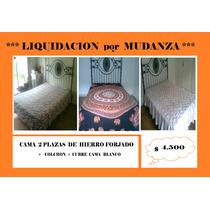 Camas Hierro Forjado 2 Plazas + Acolchado