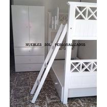 Cama Puente+baranda+escalera Comun -laqueada!!!24hs