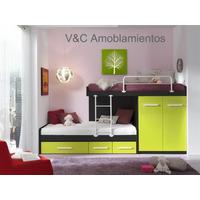 Camas Cucheta Con Placard Y Cajones Bajo Cama ( Fabrica )
