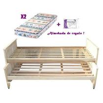 cama nido de pino doble todo para tu dormitorio en