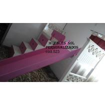 Cama Puente + Baranda + Tobogan + Escaleracajonera Laca- 24h