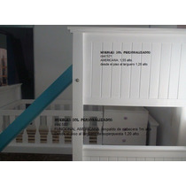 Cama Puente + Cuna Funcional + Carro + Tobogán. Laca