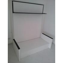 Cama Rebatible De 2 Plaza Con Sillón + Estante Organizador