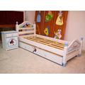 Juego Dormitorio Infantil: Cama Mesa De Luz Carro Decorado