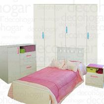 Cama Dormitorio Juvenil Placard 26 Mesa Luz Comoda Mosconi