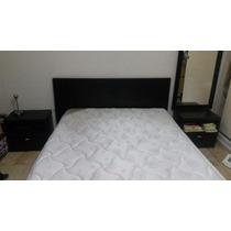 Juego Dormitorio Minimalista Cama Mesas De Luz Colchon Pilow