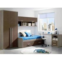 Moderno Juego De Dormitorio Completo De 1 Plaza Y Media Ryo