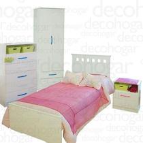 Cama Dormitorio Mesa Luz Placard 2 Puertas Chifonier Mosconi
