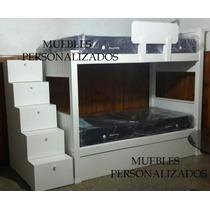 Superpuesta+carro Cajón + Escaleracajonera+colchones Macizo!