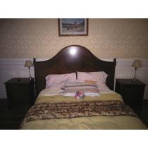 Dormitorio Matrimonial En Pluma De Caoba Con Filetes