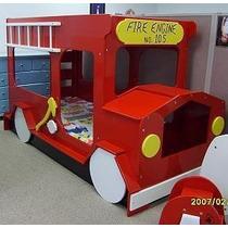 Cama De Camión De Bomberos, Camas Infantiles