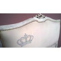 Cama Respaldo Princesas Capitone Antiguo Sommier Luis Xv