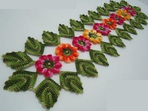 Caminos de mesa tejidos a crochet patrones gratis
