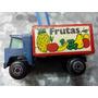 Camión Frutas Miniatura Chapa
