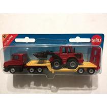 -full- Camión Transportando Maquina Vial Siku 1610 H0 Aprox