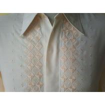 Camisa Vintage Bordada Talle M