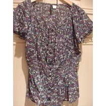 Camisa Floreada H&m - De Mangas Cortas - H & M - Talle S