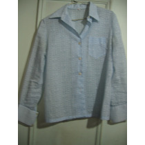 Camisa Blusa Elegante Mangas Largas Impecable Talle M