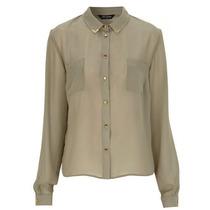 Camisa De Gasa Color Khaki Importada Europa