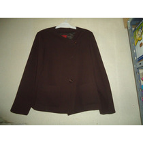 Saco Blazer Mangas Largas Color Chocolate Talle M