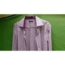 Camisa Hombre 41-42 Algodón Entallada Slim