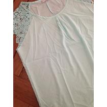 Camisa Crepe Detalle Encaje
