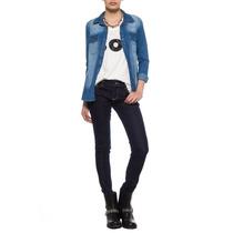 Camisa Mujer Muaa Manhattan Camisa De Jean Original