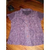 Camisa Entallada Labrada Importada Color Obispo Nueva