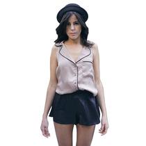 Clippate Mujer Camisa De Seda Combinada Noche Envio Gratis
