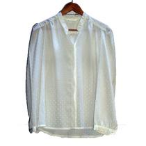 1495 - Camisa De Seda Importada Color Marfil - Susan Hutton