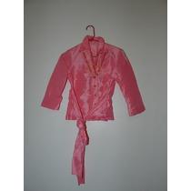 Camisaco/camisa Saco De Shantun Con Faja.... Ver Ideal!!!!