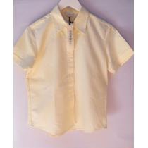 Camisa M/cortas Marca Vitamina Original Amarillo Pastel