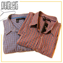 Camisa Kosiuko Manga Cortal L - Cuadrillé Azúl