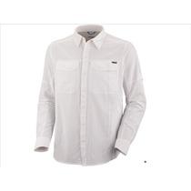 Camisas Columbia Silver Ridge Omni Shade Uv Protect Blanca