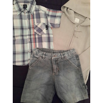 Lote Bermuda Jean + Campera Hilo + Camisa Escocesa Nene