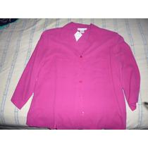 Camisa De Mujer Color Fuccia Talle M