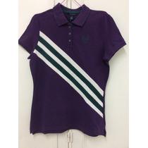 Polo Combinado Unisex Color Violeta Marca Tommy Hilfiger M