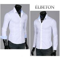 Camisa Entallada Slim Fit Importada Hombre Élbeton