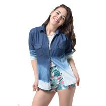 Camisa De Jean Degrade En 8 Talles-axioma