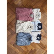 Lote De Fábrica 6 Camisas Small Médium Y Large Zara Rochas