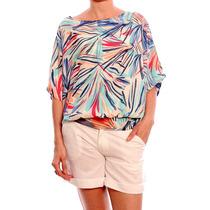Blusa Estampada Verano Calce Amplio 041021