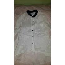 Camisa De Seda Cuello Mao ,nueva!!!de Kill